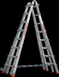 Teleskopleiter 4x8 Sprossen
