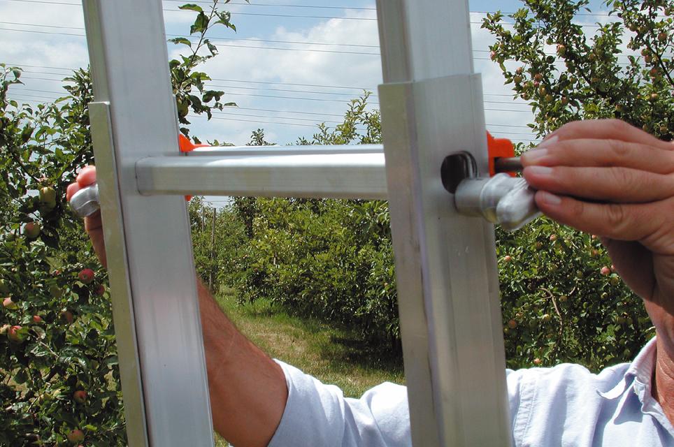Profi aluminium teleskopleiter 985 siedra leitern gmbh online shop
