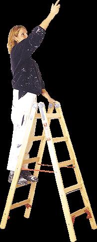 Holzleiter Sprossen
